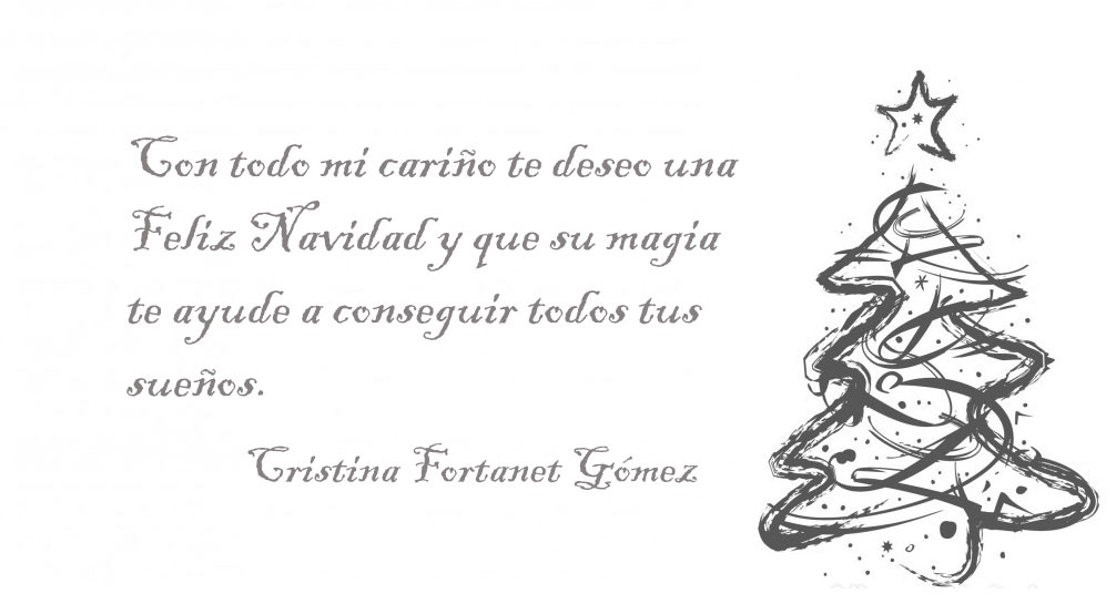 Postal Navidad 2019 Cristina Fortanet . Arquitecto de Castellón